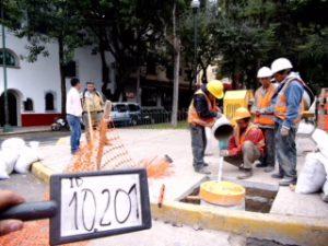Instalación de micropilotes para cimentación de postes - International Trading