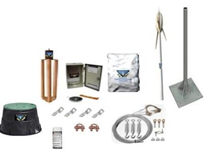 Pararrayo kit con acccesorios